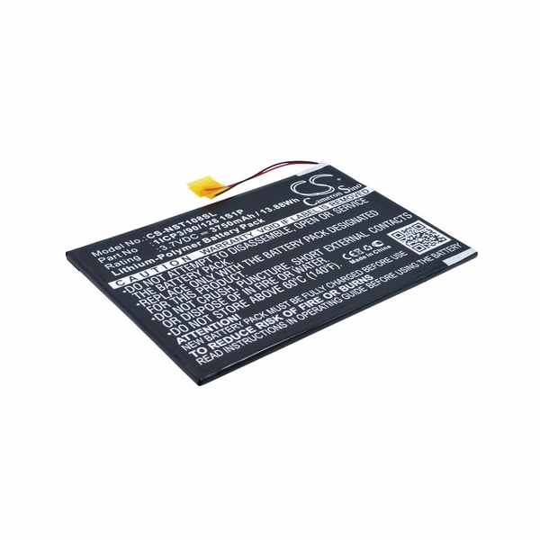 Replacement Battery Batteries For NUVISION 10.1 CS NST108SL