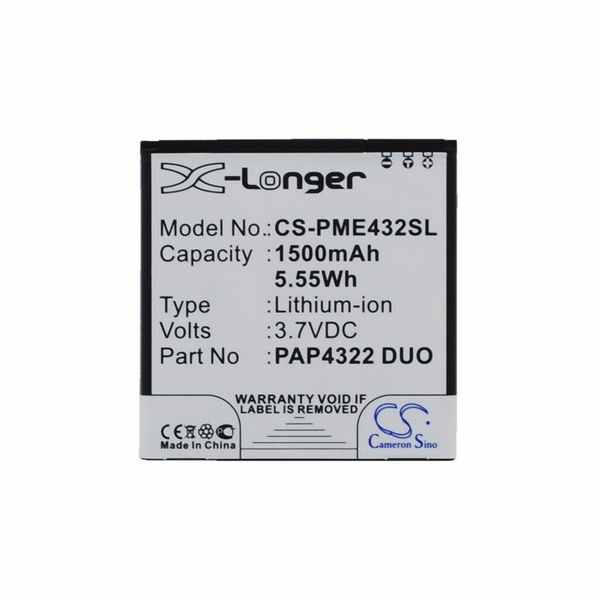 Replacement Battery Batteries For PRESTIGIO Multiphone 4322 Duo CS PME432SL