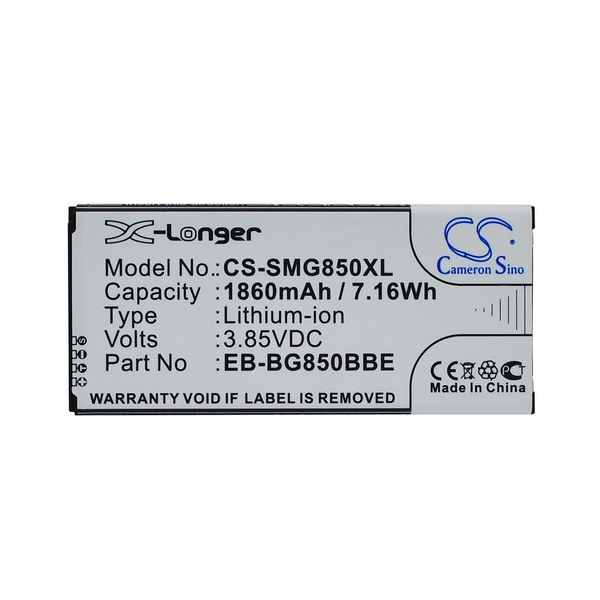 Replacement Battery Batteries For SAMSUNG SM S801 CS SMG850XL