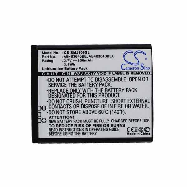 Replacement Battery Batteries For SAMSUNG AB533640AE CS SMJ600SL