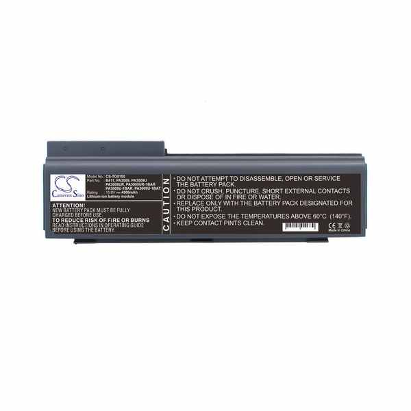 Replacement Battery Batteries For TOSHIBA B411 CS TO8100