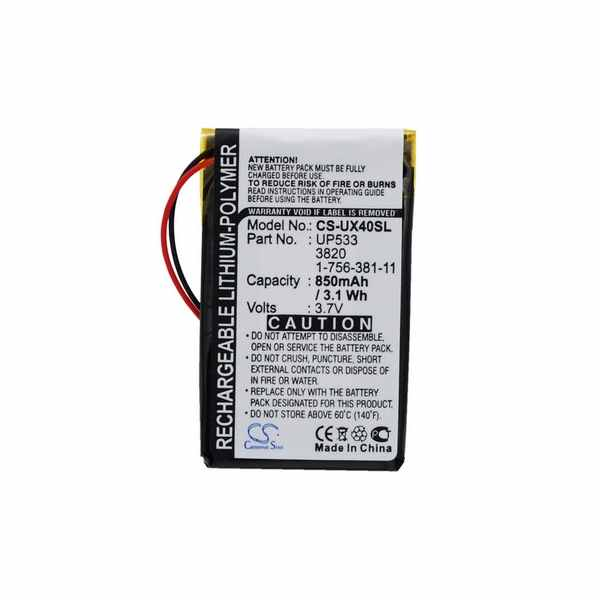 Replacement Battery Batteries For SONY 1 756 381 11 CS UX40SL