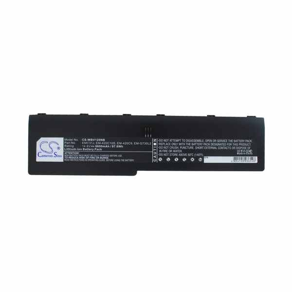 Replacement Battery Batteries For ECS 217046411 CS WBV120NB