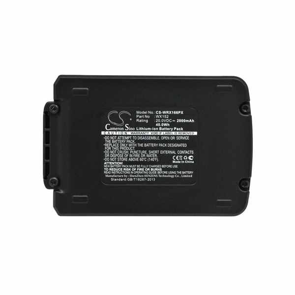 Replacement Battery Batteries For WORX 16VMaxDrillDriver CS WRX166PX