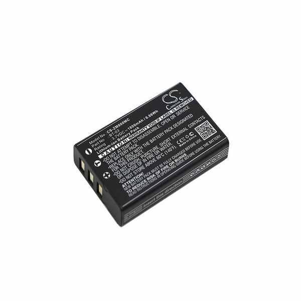 Replacement Battery Batteries For ZOOM BT 03 CS ZM800MC